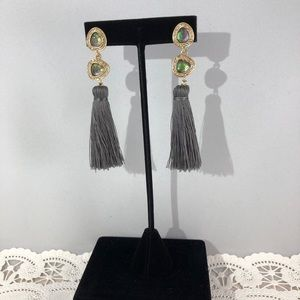 Jewelry - New Fashion Forward Earrings Gold, Green & Gray
